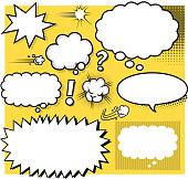 blank cartoon speech bubbles
