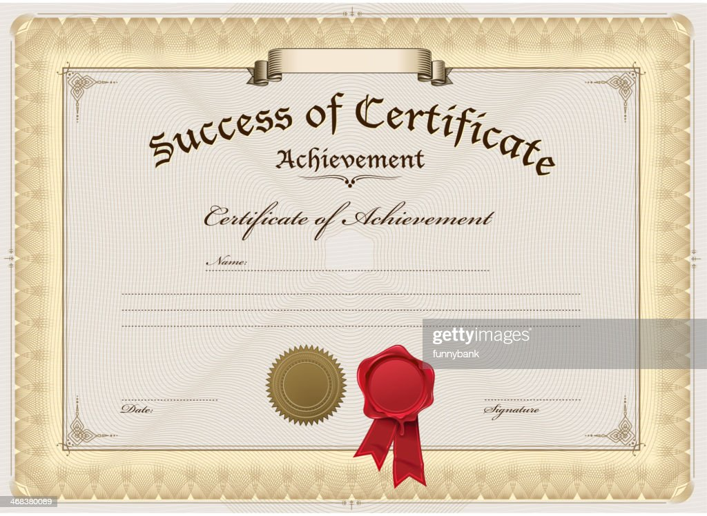 A blank certificate of achievement