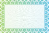 Blank certificate with green border