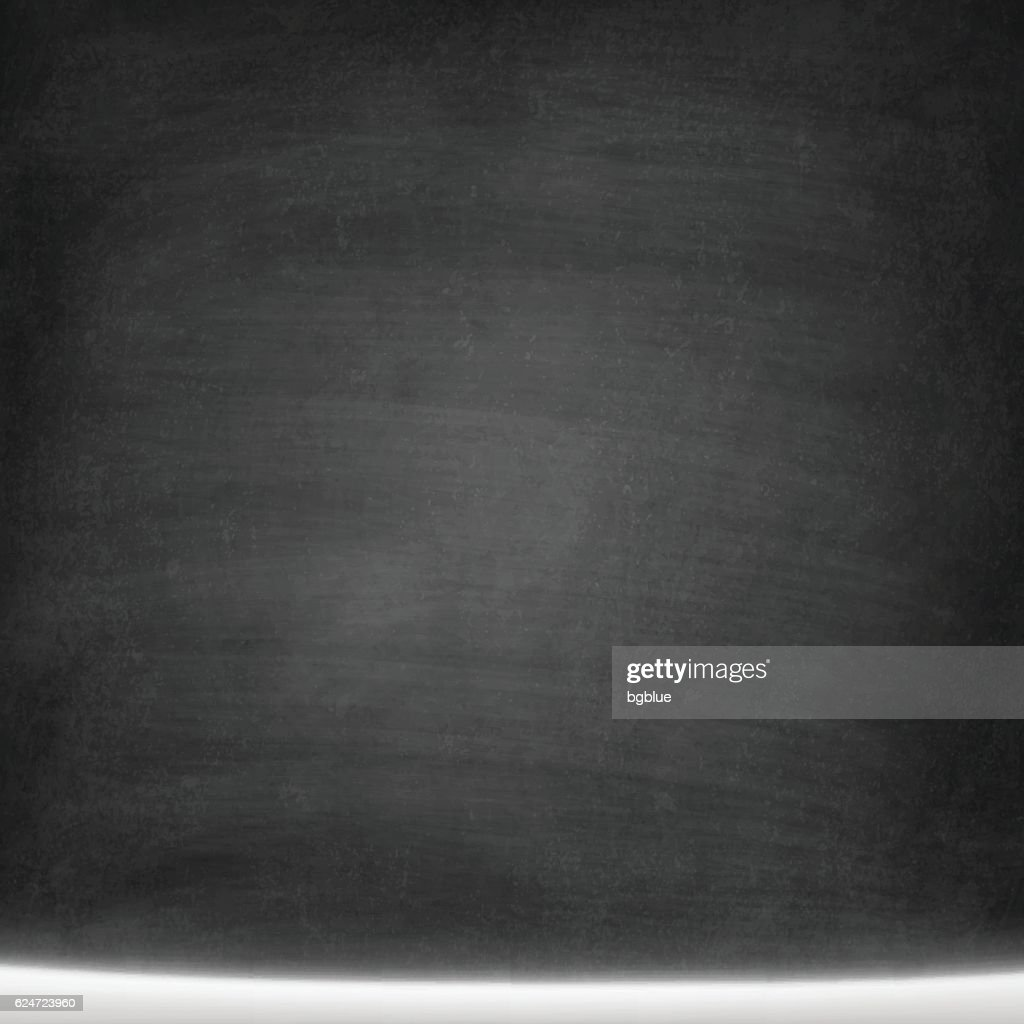 Blank Chalkboard Background with Snow - Blackboard texture