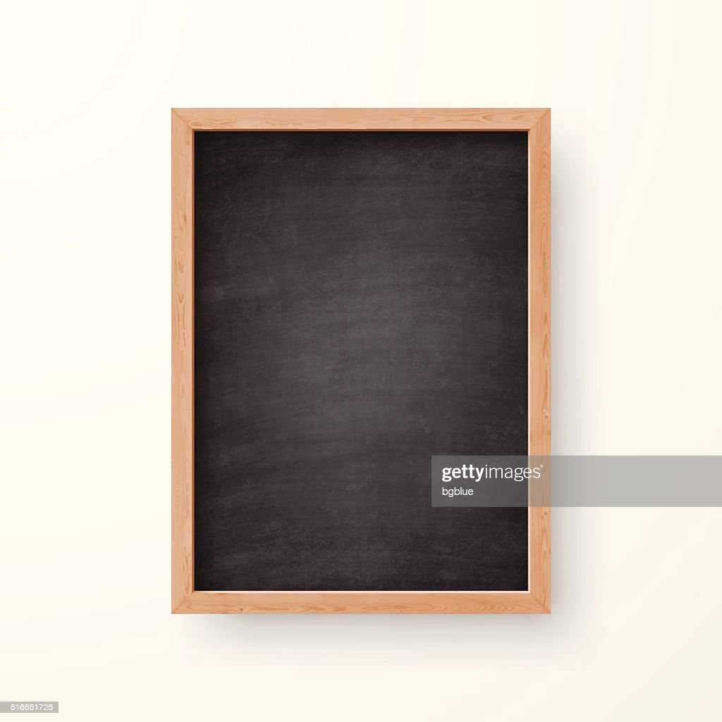 Blank chalkboard with wooden frame on white background vector art blank chalkboard with wooden frame on white background vector art jeuxipadfo Gallery