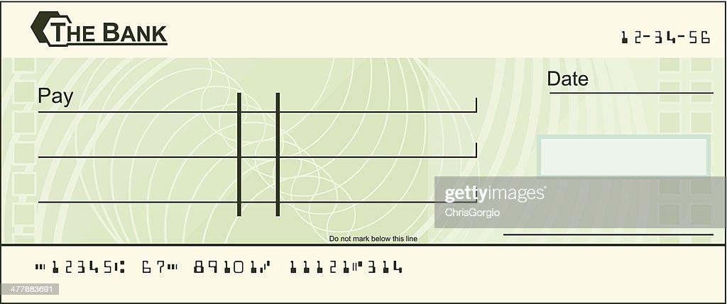 Blank cheque illustration