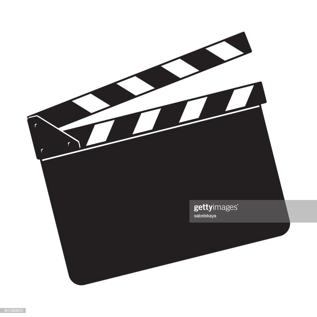 Blank cinema production black clapper board