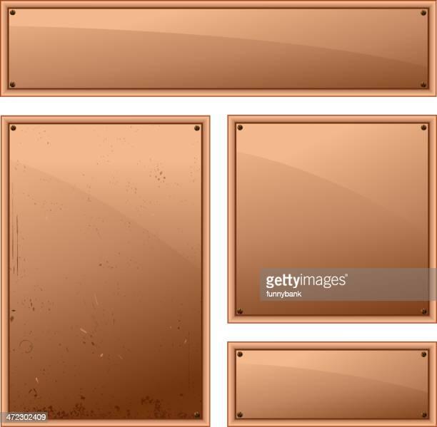 ブランク銅フレーム - 机上のネームプレート点のイラスト素材/クリップアート素材/マンガ素材/アイコン素材