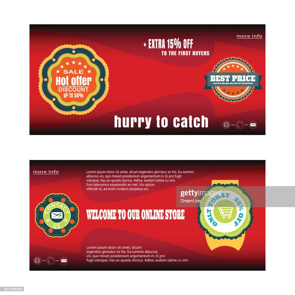 Blank coupon discount vector illustration for promotion.