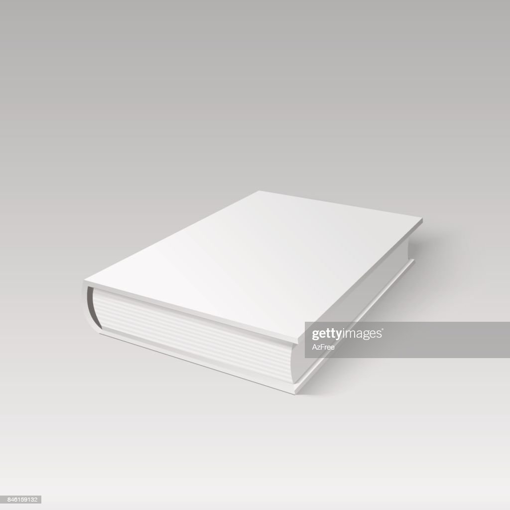 Blank cover book for your design in perspective view. Vector.