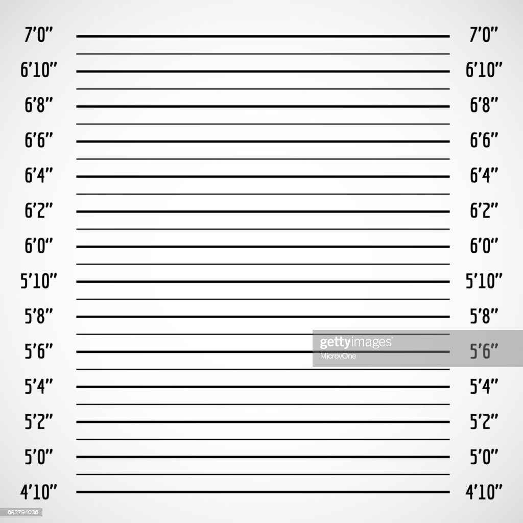 Blank criminal police lineup or mug shot vector background