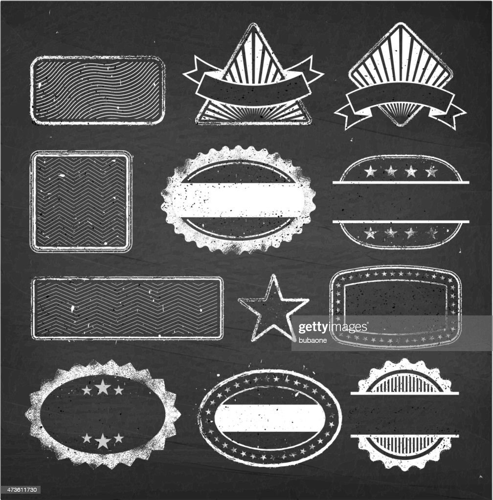Blank Custom Vintage Badge Royalty Free Vector Set Art