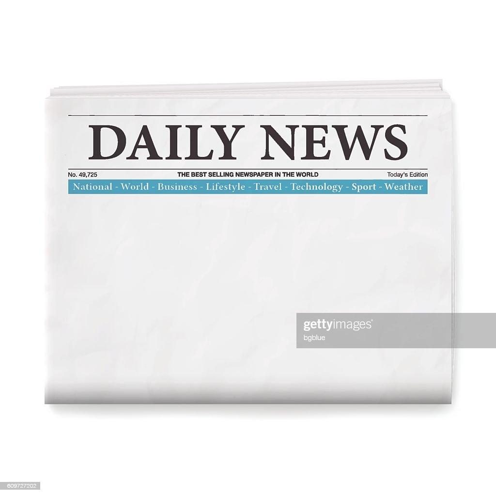 Blank Daily Newspaper : stock illustration