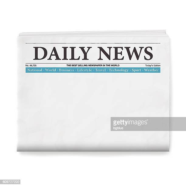 blank daily newspaper - model stock illustrations