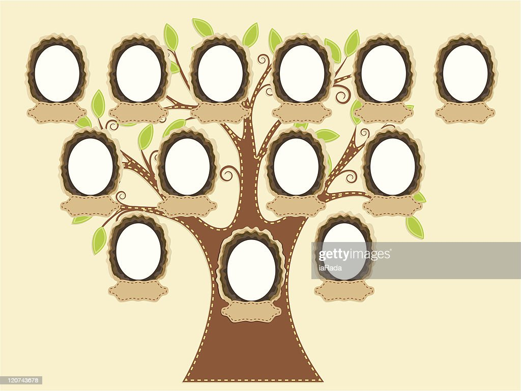 A blank diagram of a family tree