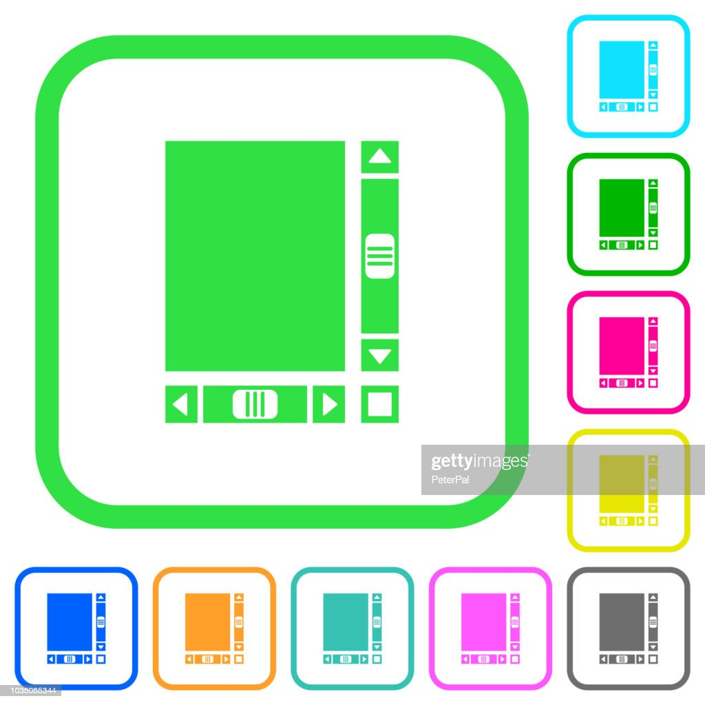Blank document with scroll bars vivid colored flat icons