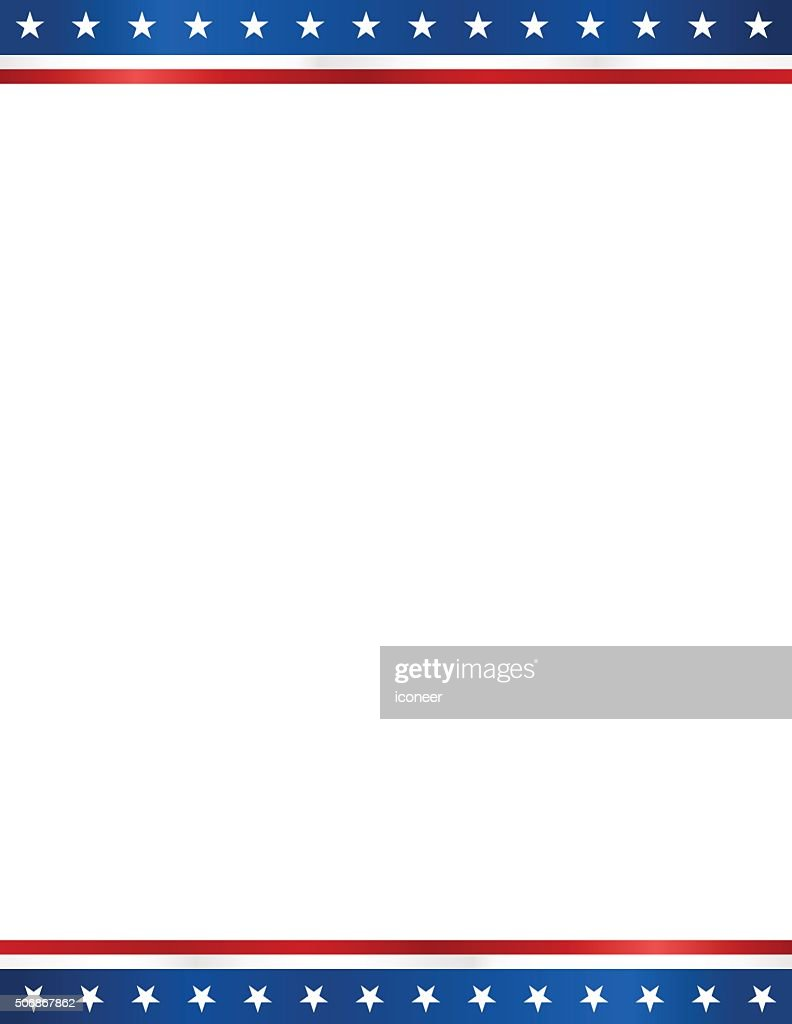 USA blank  election design template in letter format white background : stock illustration