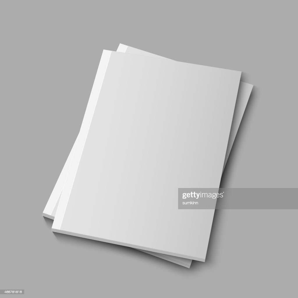 Blank Empty Magazine Template Vector Art Getty Images