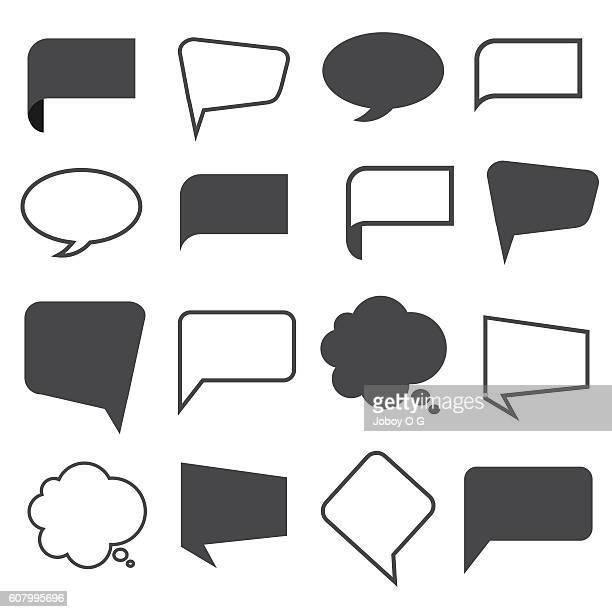 stockillustraties, clipart, cartoons en iconen met blank empty speech bubbles - sms'en