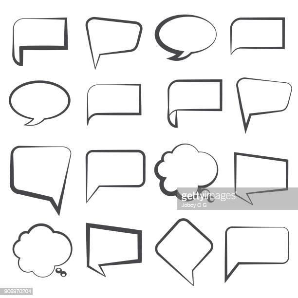 illustrations, cliparts, dessins animés et icônes de vide vide dialogue bubbles - bulle bd