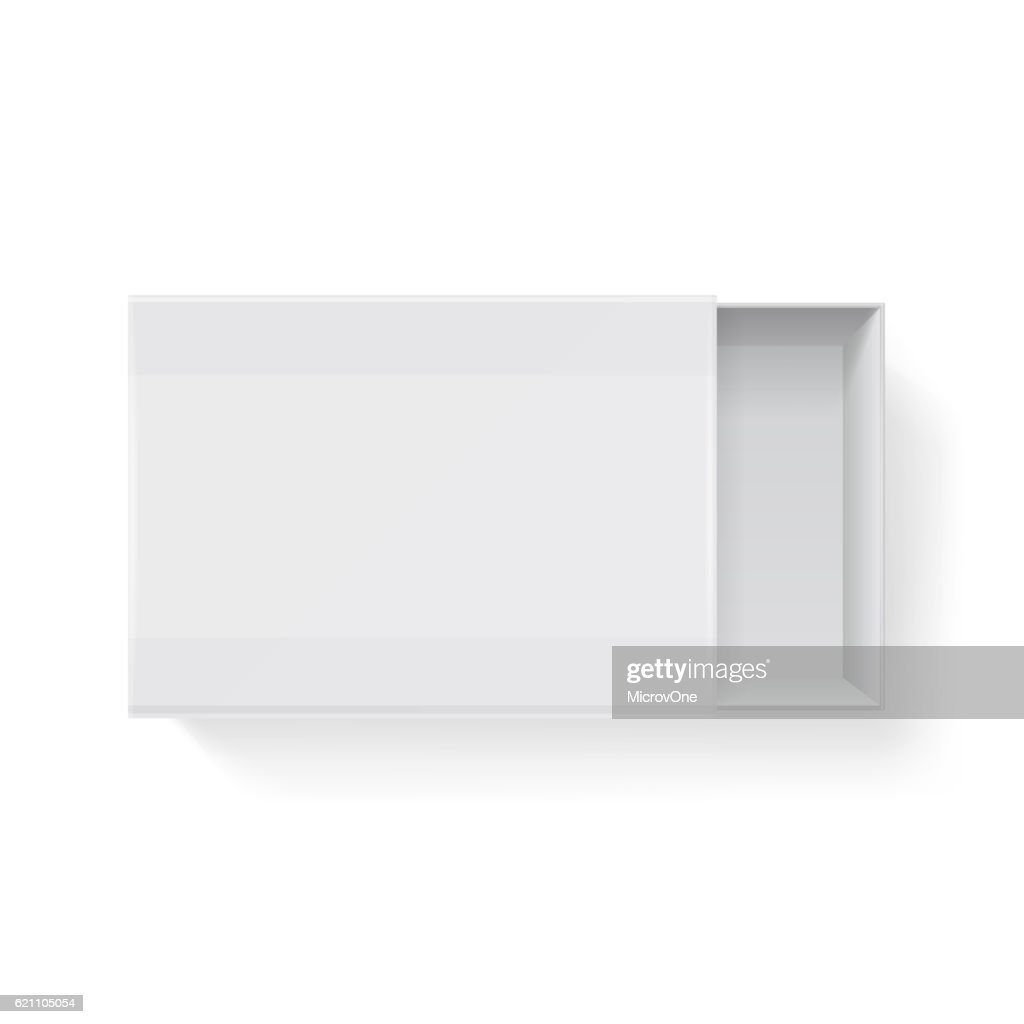 Blank empty white paper packaging matchbook, matchbox isolated. Vector illustration