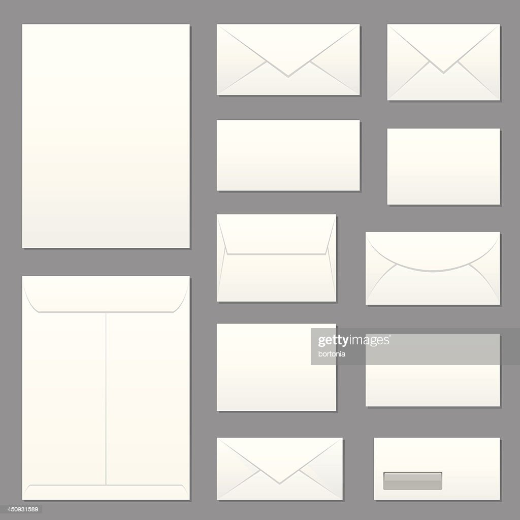 Blank Envelopes Icon Set