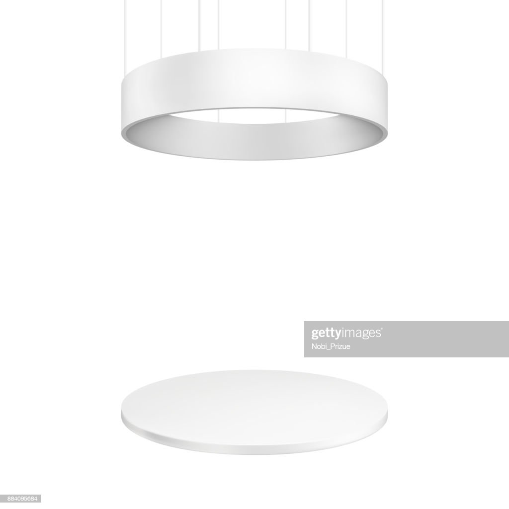 Blank exhibition stand. Illustration isolated on white background