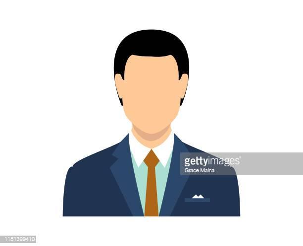blanker gesicht avatar eines mannes - ausdruckslos stock-grafiken, -clipart, -cartoons und -symbole