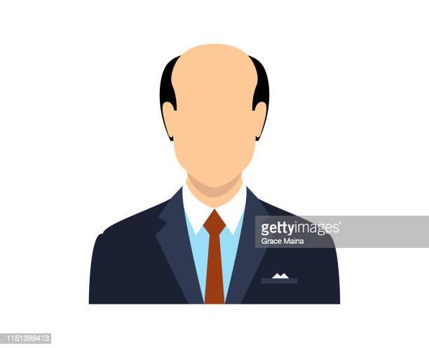ilustraciones, imágenes clip art, dibujos animados e iconos de stock de cara en blanco avatar de un hombre con una cabeza calva - etnia del subcontinente indio