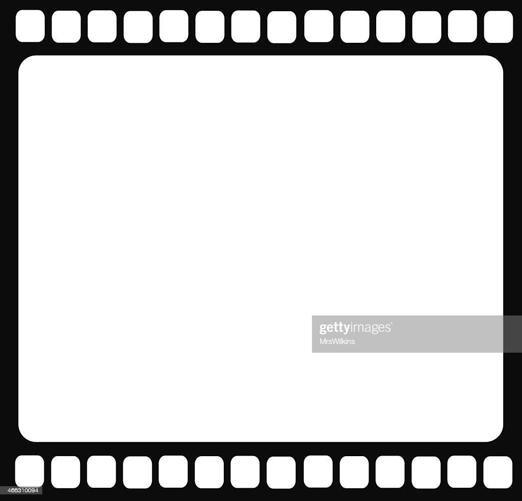 Blank film strip isolated vector illustration