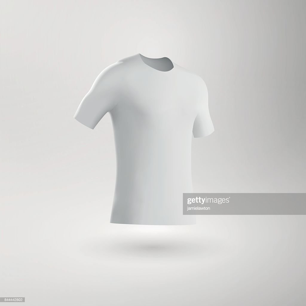 Blank Football Shirt / Soccer Shirt / Fitted T-Shirt Tee : stock illustration