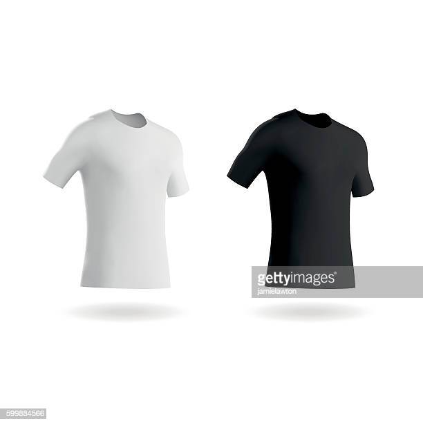 blank football shirts / soccer shirts / fitted t-shirts tee - shirt stock illustrations
