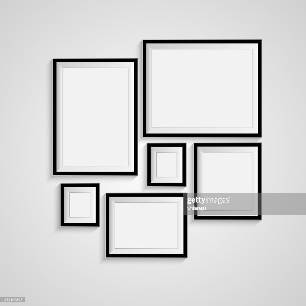 Blank frame on a white background. Vector