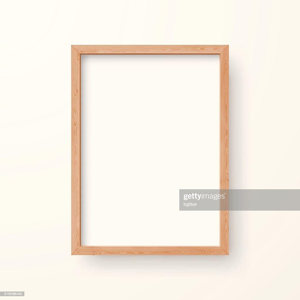 Quadro em branco sobre fundo branco : Ilustração