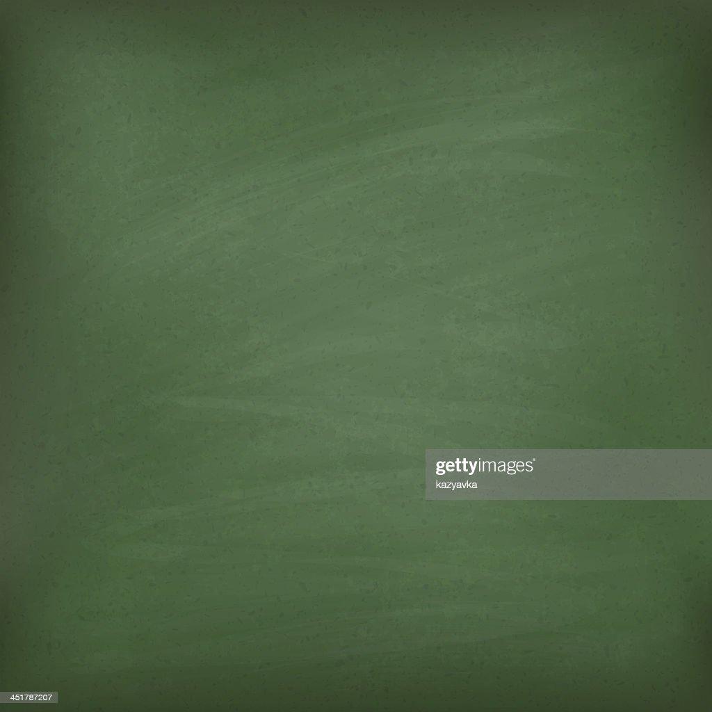 Blank green chalkboard.
