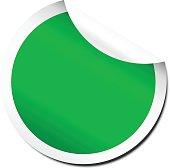 Blank green peel off sticker template