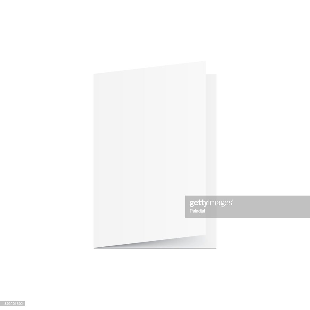 Blank Greeting card mockup vector on white background. Mockup concept