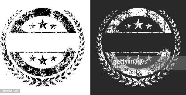 ilustrações, clipart, desenhos animados e ícones de branco de gráficos de vetor preto e branco do grunge - great seal