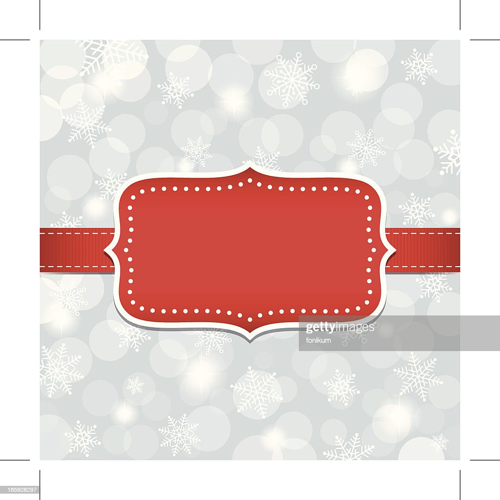 Blank Holiday Greeting Card Frame Vector Art Getty Images