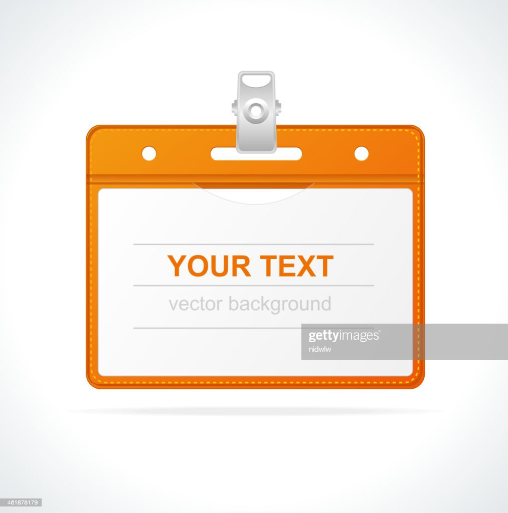 blank id badge isolated vector art getty images