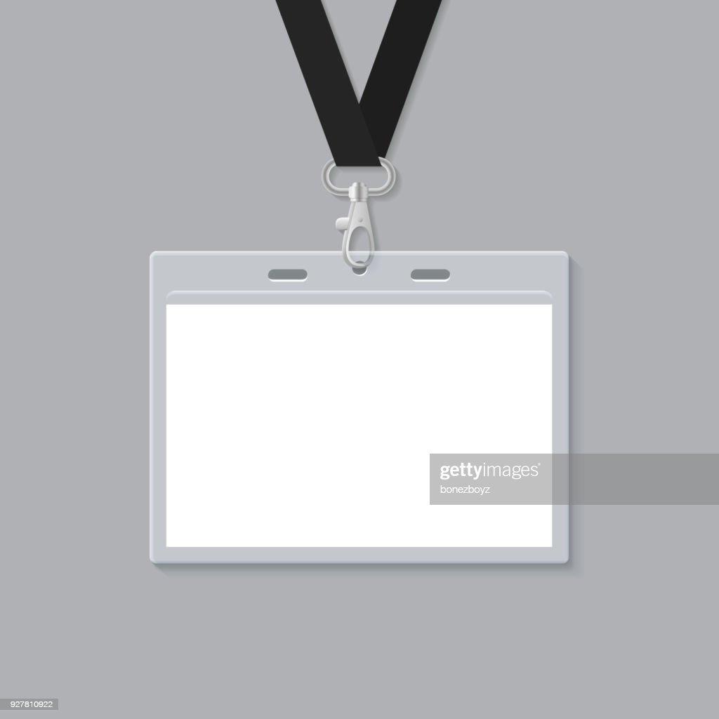 Blank ID Card Mockup