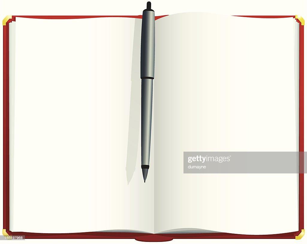 Blank journal diary