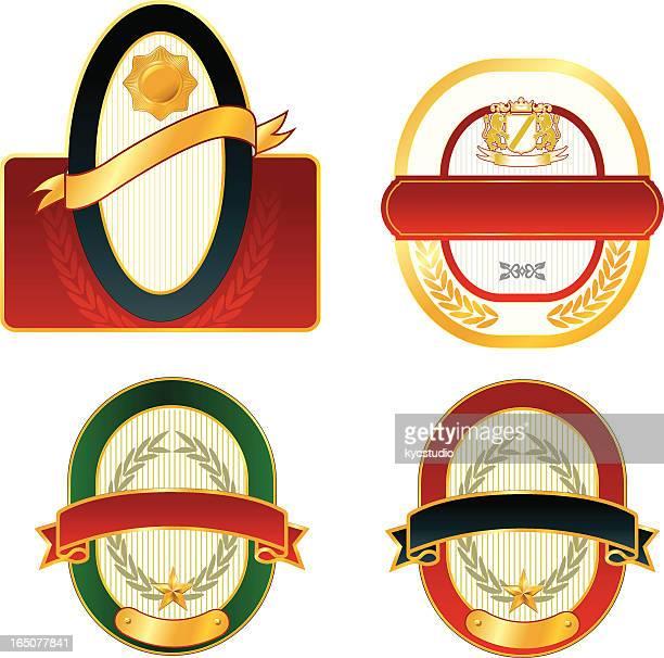 ilustrações, clipart, desenhos animados e ícones de rótulos em branco - great seal