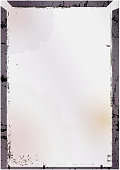 Blank large format empty glass negative or picture frame,free pics space, isolated on white