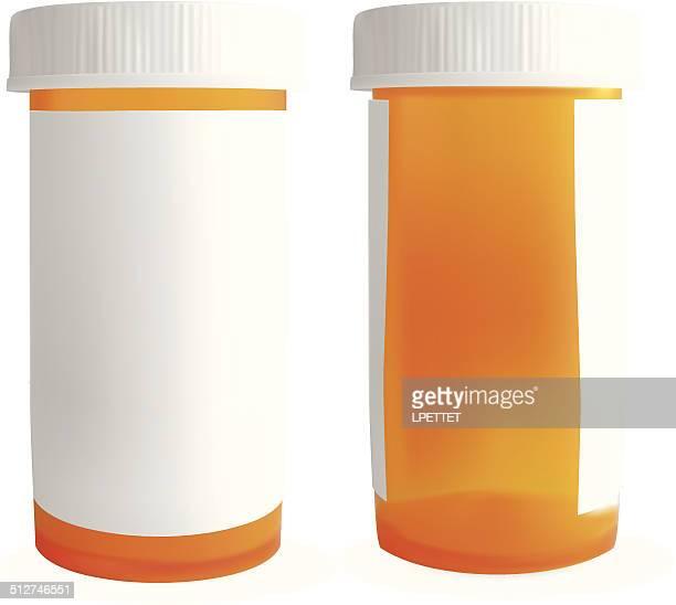 ilustrações, clipart, desenhos animados e ícones de medicina garrafa em branco-vetor - medicamento receitado