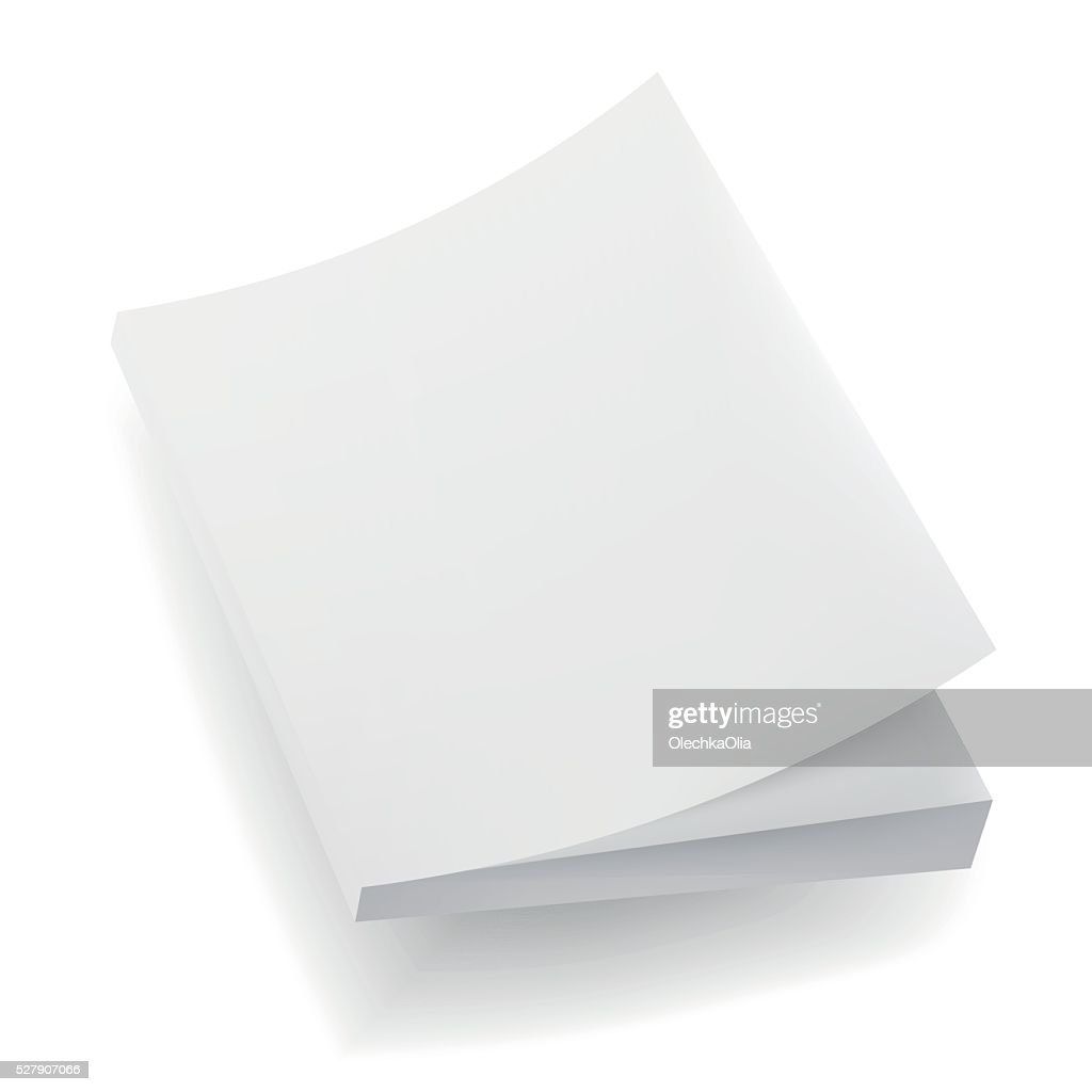 Blank  Mock Up Cover Of Notebook, Magazine, Book, Booklet, Brochure.
