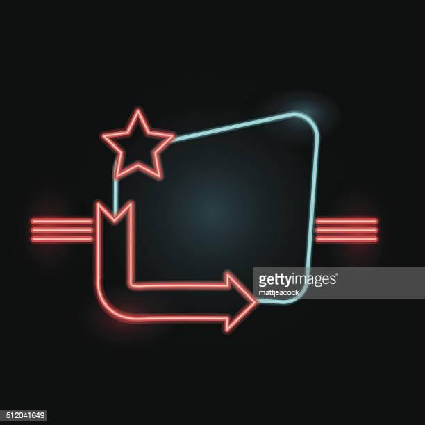 Blank neon sign