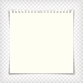 Blank notebook page with torn edge