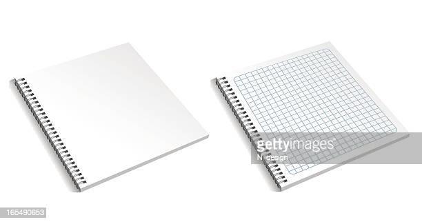 blank notebook - organização stock illustrations