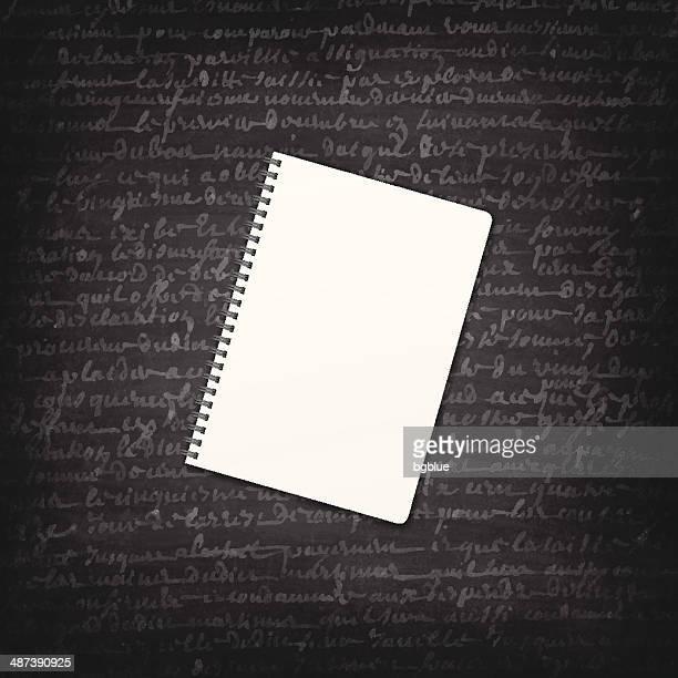 illustrations, cliparts, dessins animés et icônes de bloc-notes sur le tableau noir-chalkboard - cours d'orthographe