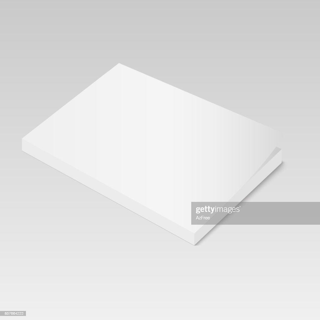 Blank Of Book Magazine Or Brochure Template Vector Vector Art