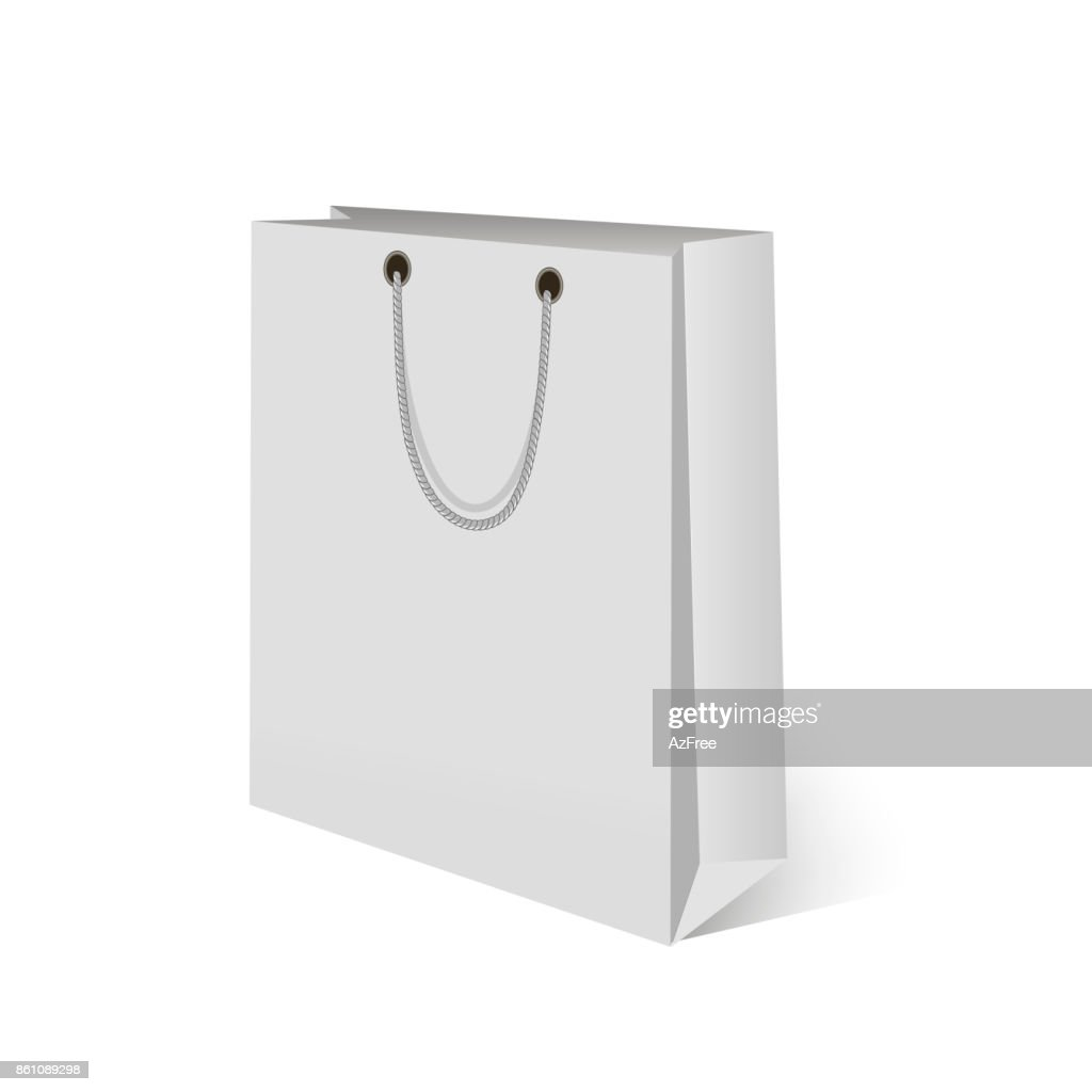 Blank of paper shopping bag. Mock up for your design.Vector.