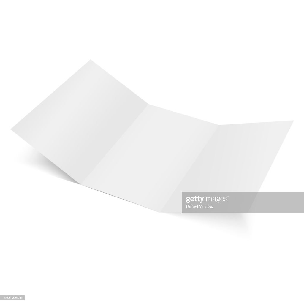 Blank of Three folded paper. Vector.