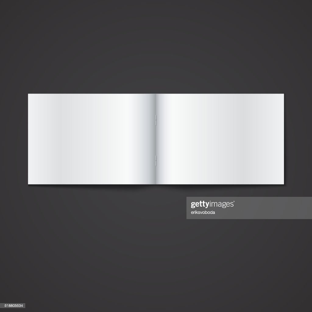 Blank Opened Magazine Template Vector Art Getty Images